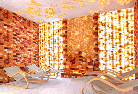 Соляные комнаты, пещеры, гроты